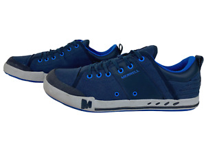 MERRELL NAUTICAL Mens Trainers Size UK 10.5 EU 45 Blue Leather blend Sneakers
