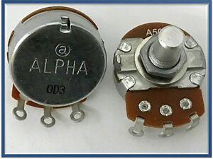 Alpha 9mm 50KA potenziometro LOG mono perno in metallo zigrinato L: 15mm