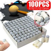 100Pcs 9/10/11/12/13mm Billiard Club Head Tip Snooker Pool Cue Tips