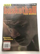 Michael Jordan Beckett Basketball Card Monthly Issue #132 July 2001 Decisions