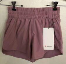 "NWT Lululemon Size 8 Tracker LR Short 4"" *Lined PKPT Mauve Pink"
