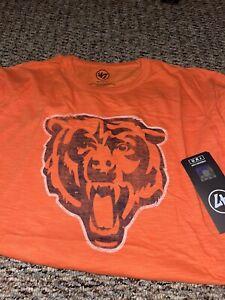 Chicago Bears 47 Brand Scrum Logo SS T-shirt XXL
