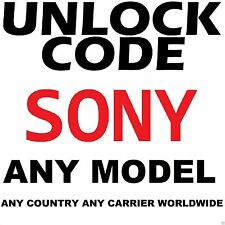 SONY XPERIA ALL GSM MODEL Factory Unlock Code Service ALL CARRIER WORLDWIDE