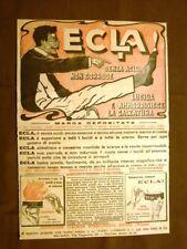 Pubblicità del 1916 Lucidante per scarpe Ecla! Parma Landriani & C. Milano
