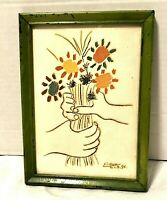 """Pablo Picasso Still Life With Hands Art Print French Repro 5"""" x 7"""" Framed"""