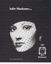 PUBLICITE ADVERTISING 064 1976 BALMAIN Jolie Madame eau de toilette