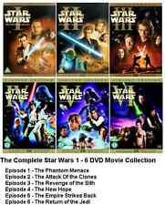 STAR WARS COMPLETE COLLECTION DVD SET EPISODE PART 1 2 3 4 5 6 ALL MOVIE FILM UK