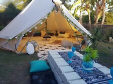 Large 7M Bell Tent Cotton Canvas Tent Camping Glamping Party Beach Yurt 4-Season