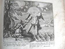 C21-4w Gravure religieuse 17e St Jean voit un ange (Apoc 10)