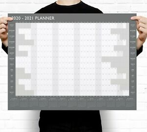 Large A2 2020-2021 Academic Wall Planner Calendar ~ Mid Year
