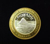 $10 .999 SILVER HARRAH'S RENO, NV LIMITED EDITION CASINO TOKEN Lot#AB68