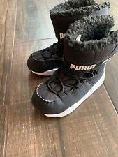 Puma Toddler Trinomic 7 Boot Sneaker Black White