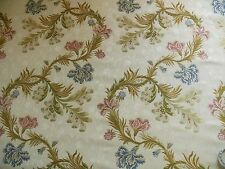 By Yd Old Wolrd Weaver French Lace Carnation Lampas Blue Pink Cream Msrp328 #937