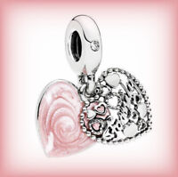 Genuine PANDORA LOVE MAKES A FAMILY Pendant Charm 796459EN28 Silver S925 ALE