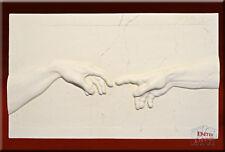 Wandrelief Relief 3D Michelangelo XL Erschaffung Adams Bild Wandbild Kunstharz