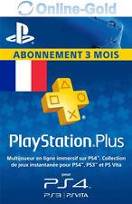 PlayStation Plus Abonnement de 3 Mois Code - 90 jours PSN PS4 PS3 PS Vita [FR]