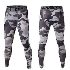 White Camo Printing Warm Mens Long Johns Leggings Thermal Underwear Bottom Pants