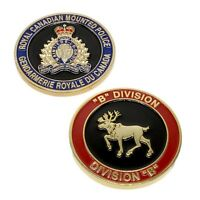 "RCMP Police Challenge Coin ""B"" Division Unit Royal Canadian Mounted Police"