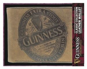 GUINNESS GIFT CLASSIC BROWN LUXURY LEATHER WALLET - OFFICIAL MERCHANDISE -