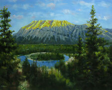 "20x24""Hand Painted Oil Flat.Landscape,Frost,Fujiyama,Mount Fuji,Mt Fuji,Mountain"