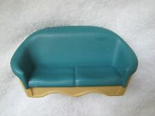 FISHER PRICE Loving Family Dollhouse GREEN COUCH SOFA ~ Excellent - Living Room