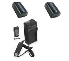 2 Batteries +Charger for Sony HDR-CX400E HDR-CX410 HDR-CX410VE HDR-CX430 CX430VE
