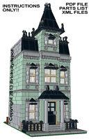 Lego Custom Modular Building - Mansard Row House - INSTRUCTIONS ONLY - 10228