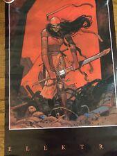 Vintage  1990-Very Rare Elektra Poster By MOEBIUS Jean Giraud-22 x 34