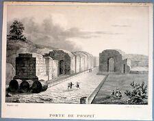 Lithographie d'Engelmann, Porte de Pompeï, Italie