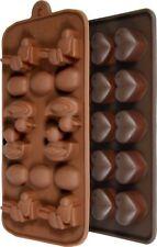 2er Set Pralinenform Silikon-Hasen Eier Enten Herzen-Silikon Schokoladenform