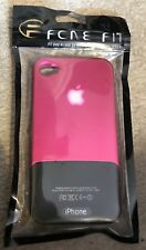 IPHONE 4S PHONE CASE FITTED PINK AND BLACK