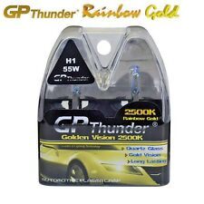GP Thunder 2500K Rainbow Gold H1 12V 55W Xenon Halogen Light Bulbs Pair On Sale