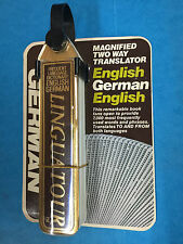Linguatour German English Pocket Travel Dictionary Flip Book Two-Way Translator