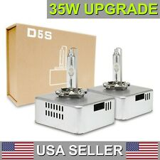2x D5S Xenon HID 6000K White Bulbs 35W Upgrade 40% More Powerful Replacement