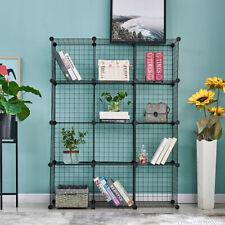 12 Storage Wire Shelves Closet Organizer Diy Storage Grids Black Furniture New