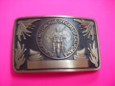 New Municipal Motorcycle Officers of California Bronze Belt Buckle Serial #30