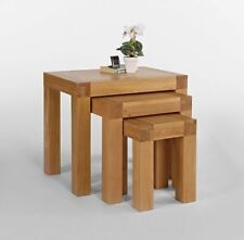 Contemporary Oak Square Side & End Tables