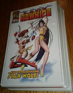 """""""Lady Rawhide"""" full 1st print Topps issue series by Don McGregor & Mike Mayhew"""
