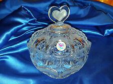 Bonboniere Schale mit Herz Deckel von HOFBAUER, Bleikristall 24%