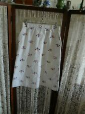 """Vintage golf skirt red white blue embroidered cotton poly blend 28 """" W 27 """" long"""