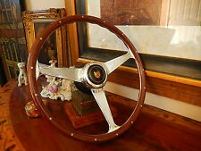 "Jaguar XJS 1986- 1989 Wood Steering Wheel Nardi Rivets 15"" Engraved Spokes NEW"