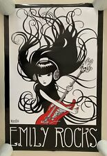 EMILY THE  STRANGE,'EMILY ROCKS',COSMIC DEBRIS,AUTHENTIC 2009 POSTER