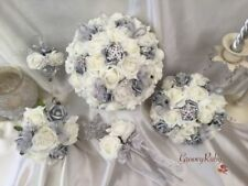 Silver Wedding Bouquets Personalised