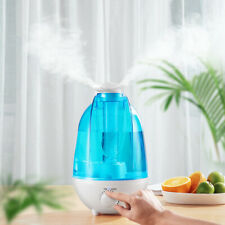 4L Large Ultrasonic Cool Mist w/Led Light Super Quiet Dual 360° Nozzle for home