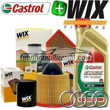 Kit tagliando olio CASTROL EDGE 5W30 5LT + 4 FILTRI AUDI A3 (8P1) 2.0 TDI