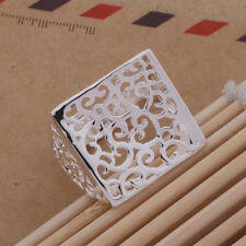 Fashion Silver wedding women retro nice Classic party Men square cute Ring AR333