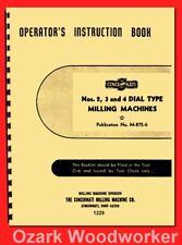 Cincinnati 2, 3, 4 Dial Type Horizontal Vertical Milling Machine ER Manual 1229
