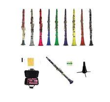 New Merano Clarinet+11 Reeds,Stand Black White Red Pink Blue Purple Green Yellow