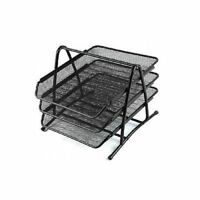 3 Tier black Metal Wire Mesh Document Tray Organizer Filing home Office Work