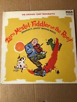 Zero Mostel Fiddler On The Roof 1964 Original Cast Recording Vinyl VG Condition